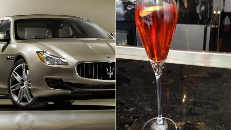 Illustration for article titled This Absurd $176 Cocktail Comes With A Ride In A Maserati