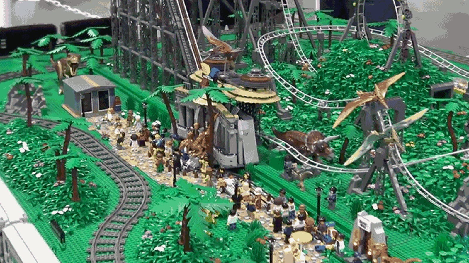 I Want to Visit This 145,000-Piece Lego Jurassic Park Roller