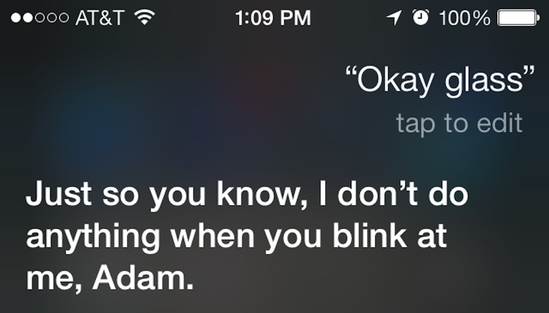Illustration for article titled Siri Gets Sassy If You Ask Her About Google Glass