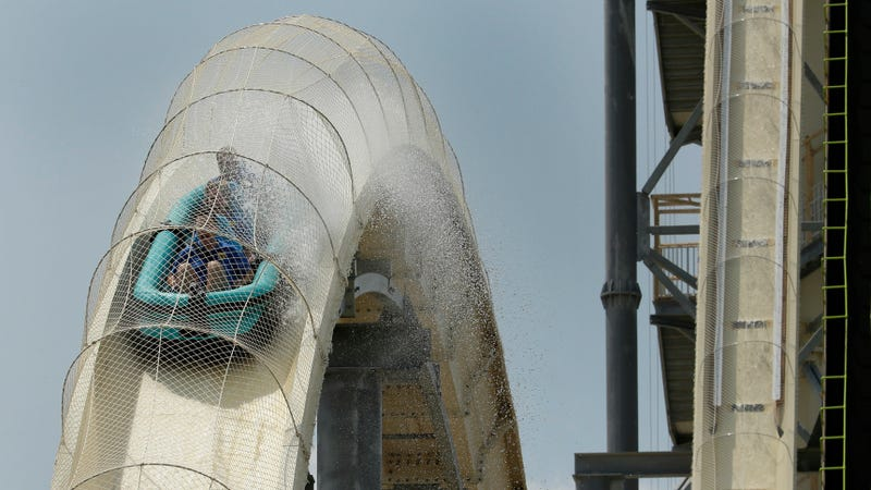 The Verrückt water slide.