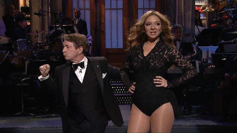 Illustration for article titled Watch Maya Rudolph Sashay As Beyoncé On SNL 40 With Martin Short