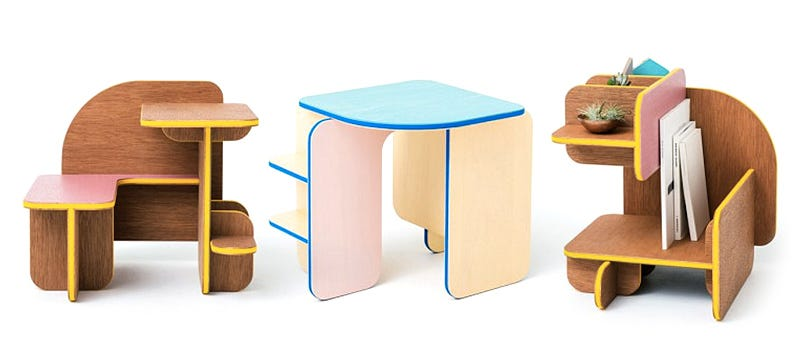 Illustration for article titled Dice Furniture Changes Form and Function When You Roll It