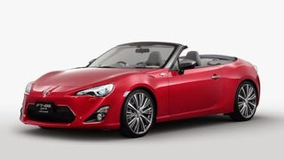Illustration for article titled Toyota FT86 Open concept, in Flash Red for added awesomeness!