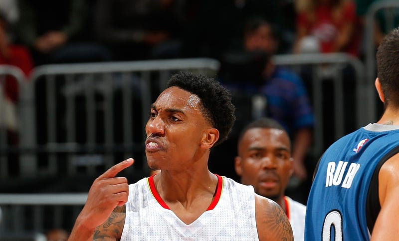 Illustration for article titled The T-Wolves Clobbered The Hawks And Slap-Happy Jeff Teague