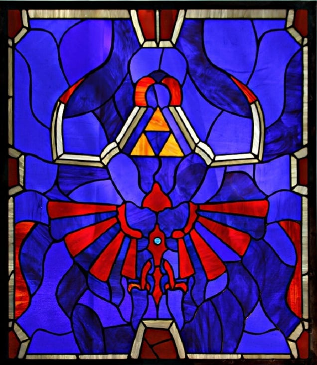 Majora's Mask-Themed Stained Glass