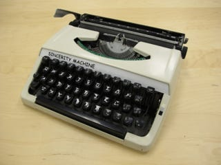 Illustration for article titled Evil Artist Builds Nightmare Typewriter In Comic Sans