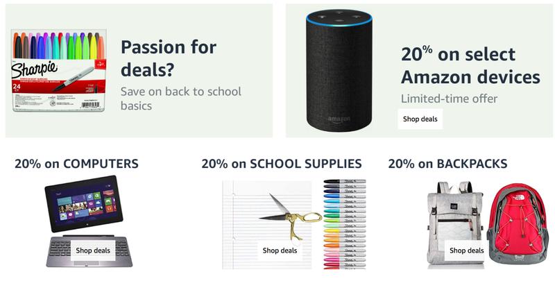 20% de descuento en el almacén de Amazon   AmazonGráfico: Amazon