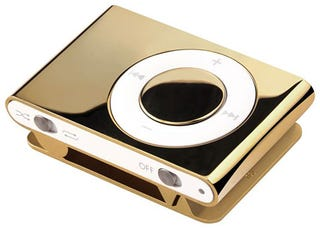 Illustration for article titled 18k Solid Gold iPod shuffle Signals Downfall of the Civilized World