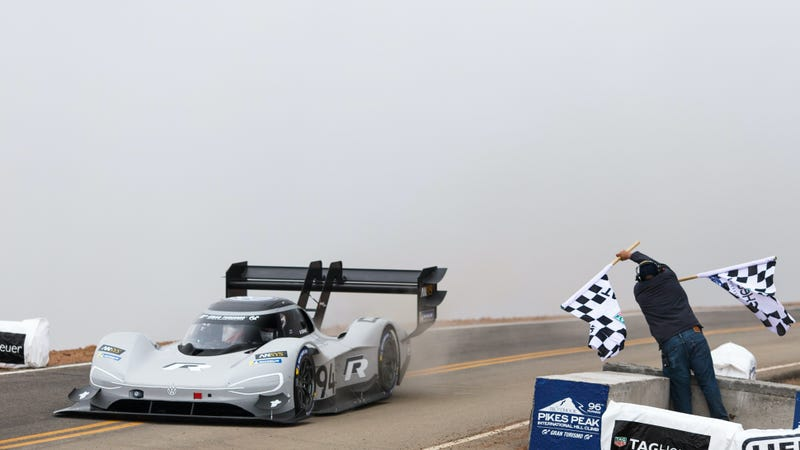 What It Was Like To See Pikes Peak S Record Get Obliterated By An Electric Car