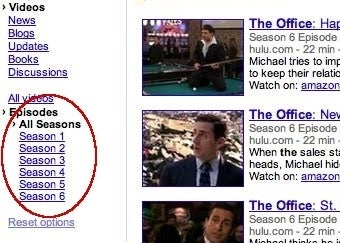 Illustration for article titled Google Officially Adds TV Episode Video-Search Filter