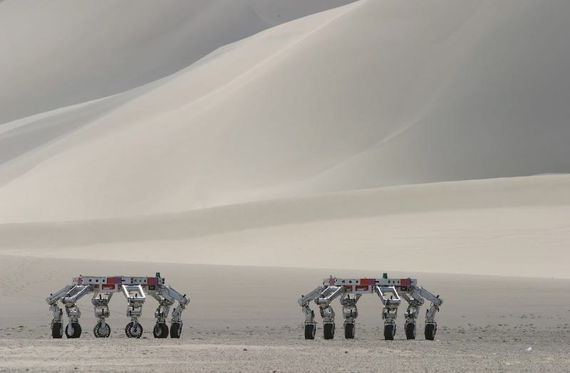 Illustration for article titled NASA's Next Space Rover Could Be This Six-Limbed Robot Within A Robot