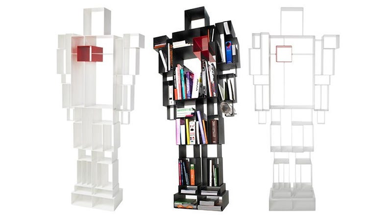Illustration for article titled Robo-Bookshelf Demands Access To All Your Antiquated Media
