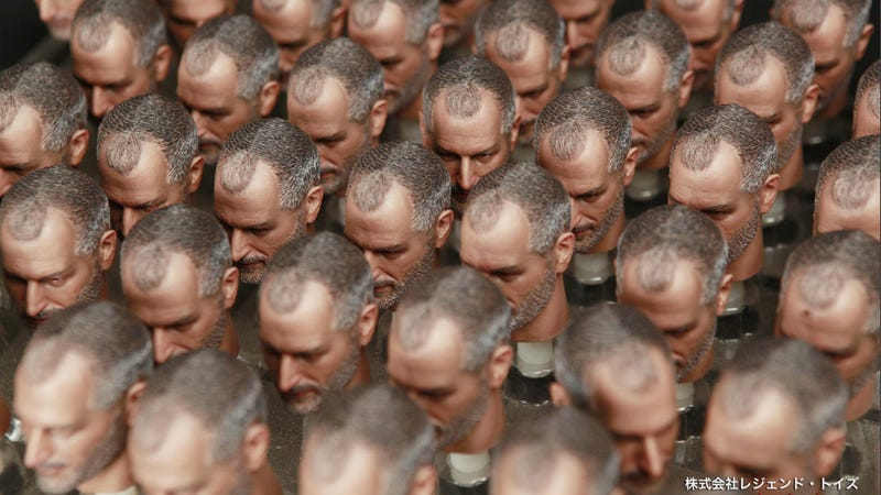 Illustration for article titled All These Little Steve Jobs Heads Are Creepy