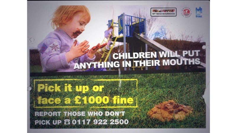Illustration for article titled City Combats Dog Poop Problem With Image of Little Girl Eating Shit