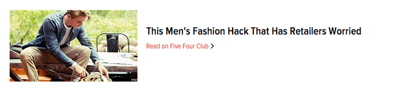 Illustration for article titled This Men's Fashion Hack That Has Retailers Worried