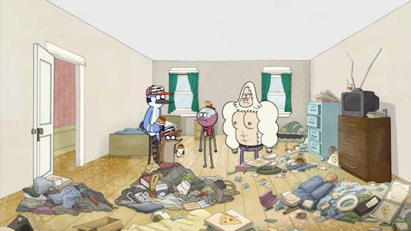 """Illustration for article titled Regular Show: """"Wall Buddy"""""""