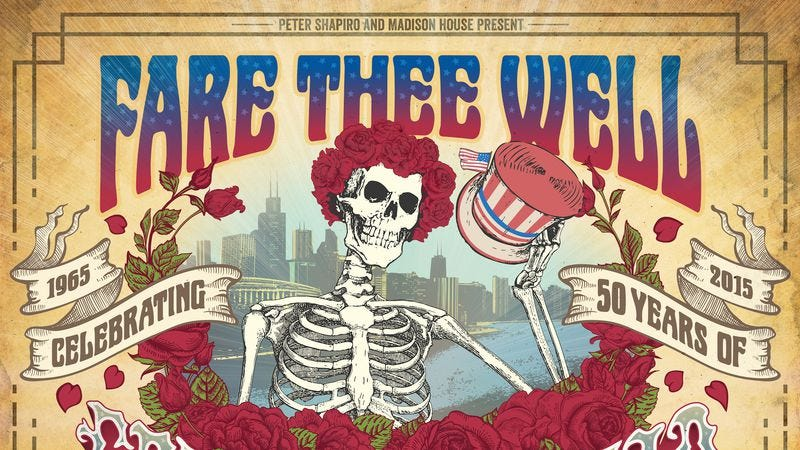 Illustration for article titled The Grateful Dead to reunite for three final shows this summer