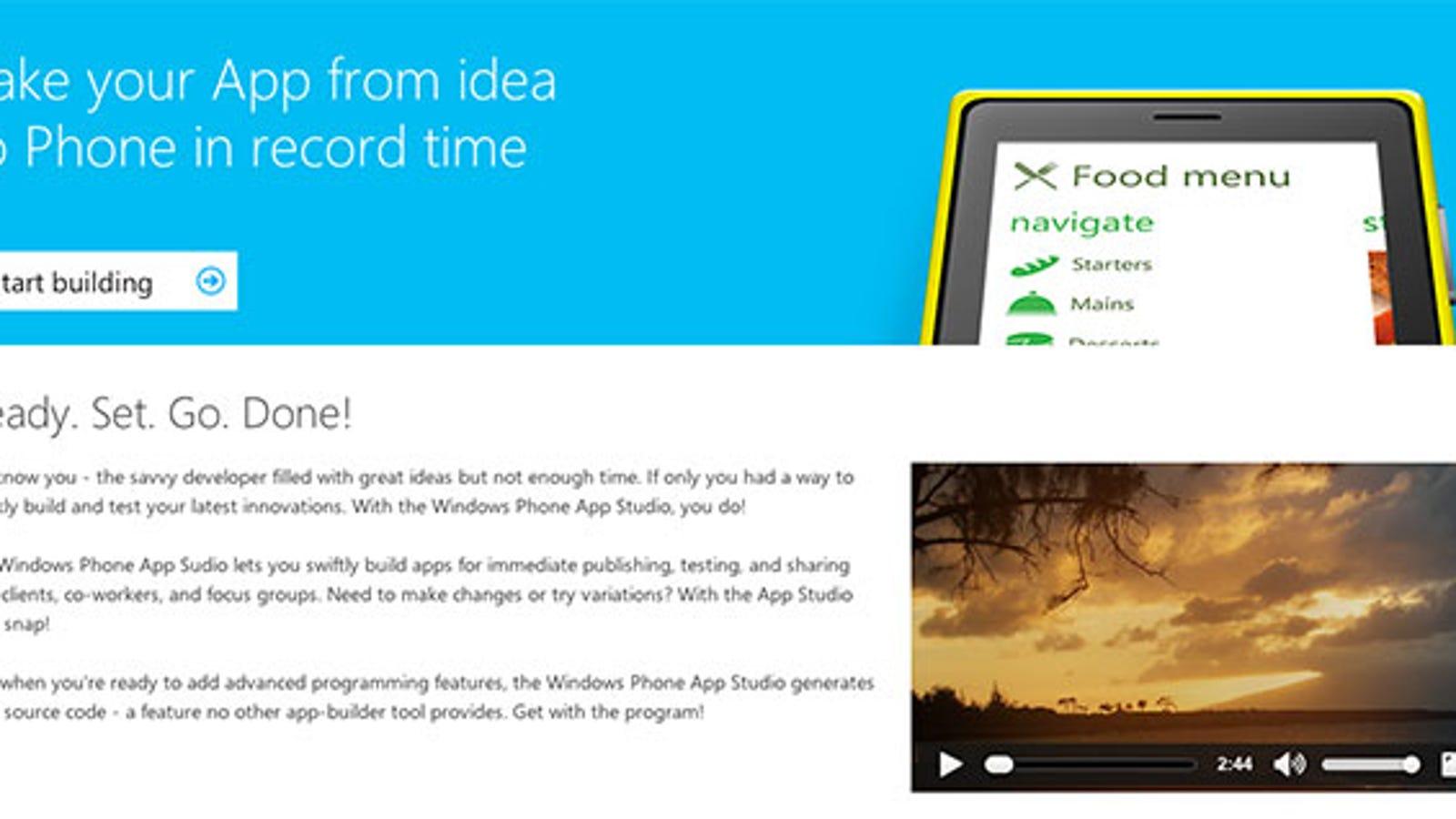 Windows Phone App Studio Makes App Creation as Easy as Drag