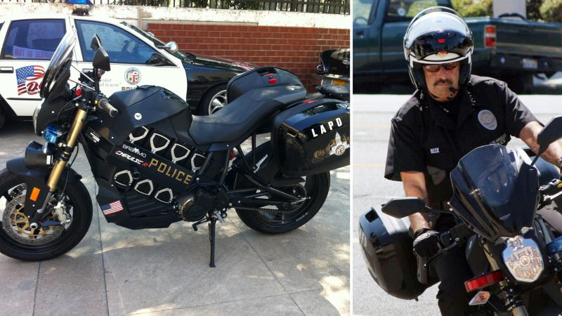 Illustration for article titled LAPD To Test Electric Motorcycles Thanks To Motocrossing Police Chief