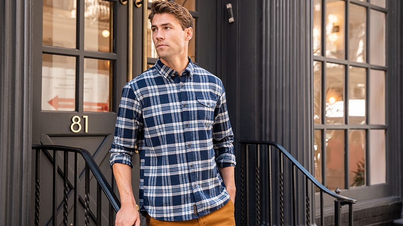 Illustration for article titled Pick Any Lightweight Flannel + A Pair of Chinos For Just $85 And Save Over 50% Off