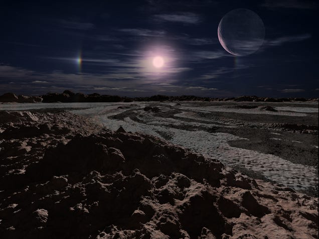 europa under red giant sun - photo #8