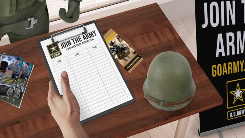 Illustration for article titled Incredible Realism: The Campaign In The Next 'Call Of Duty' Will Begin At Your Avatar's High School Cafeteria When He's Being Tricked Into Joining The Military By A Recruiter
