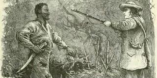 Discovery of Nat Turner: wood engraving illustrating Benjamin Phipps' capture of Nat TurnerWilliam Henry Shelton