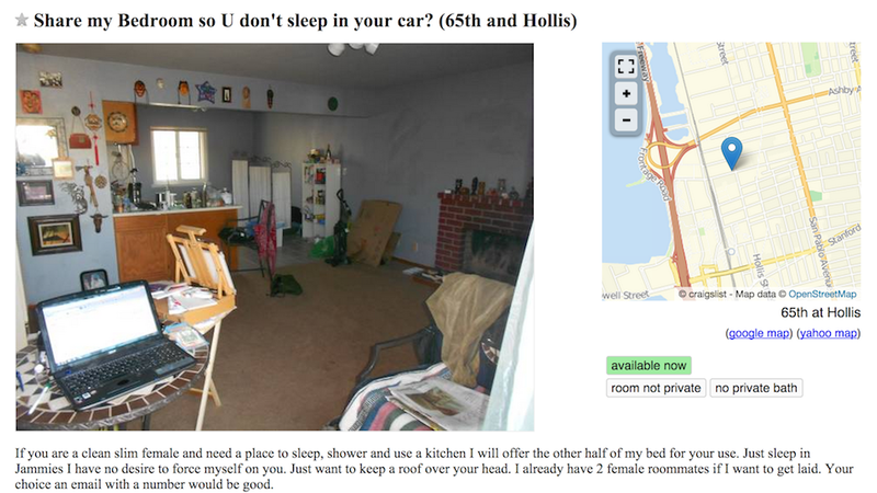 Illustration for article titled Generous Craigslist Dude Will Share His Bed With You If You're Skinny