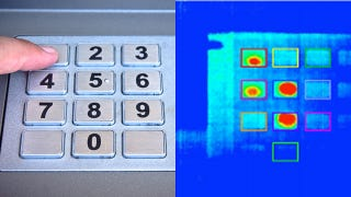 Illustration for article titled Stealing ATM PIN Numbers Using a Thermal Camera Is Too Freaking Easy