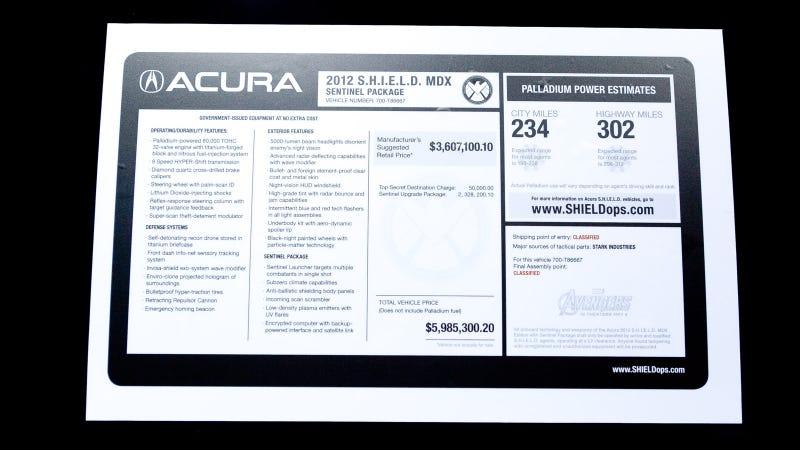 Illustration for article titled S.H.I.E.L.D. Acura MDX