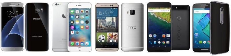 Illustration for article titled Comparativa del Samsung Galaxy S7 frente a sus principales rivales