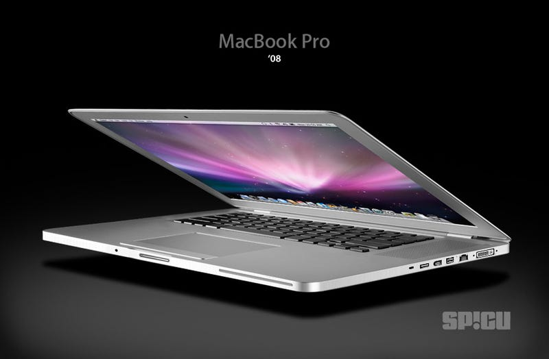 Illustration for article titled MacBook Pro 2008, The Mock-Up