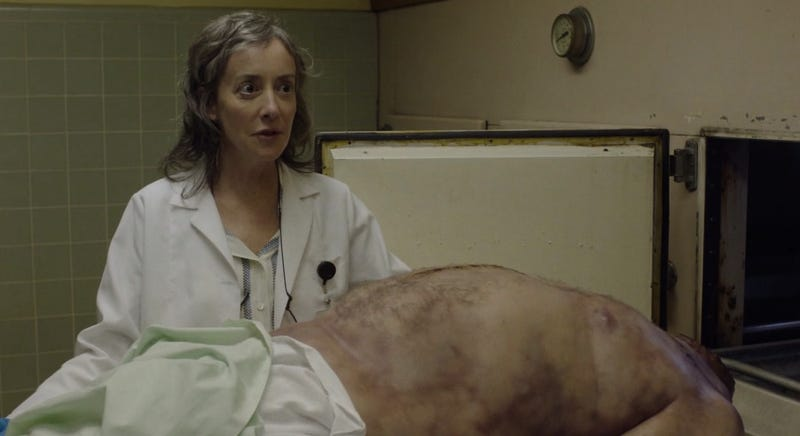 Buckhorn, South Dakota coroner Constance Talbot, who charms even prickly Albert Rosenfield. (All images: Showtime)