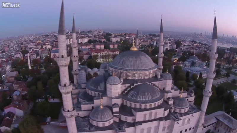 Illustration for article titled Camera Drone Slams Into Turkey's Blue Mosque, Recovers, Moves On