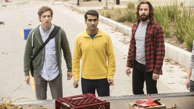 Thomas Middleditch, Kumali Nanjiani, Martin Starr (Image: HBO)