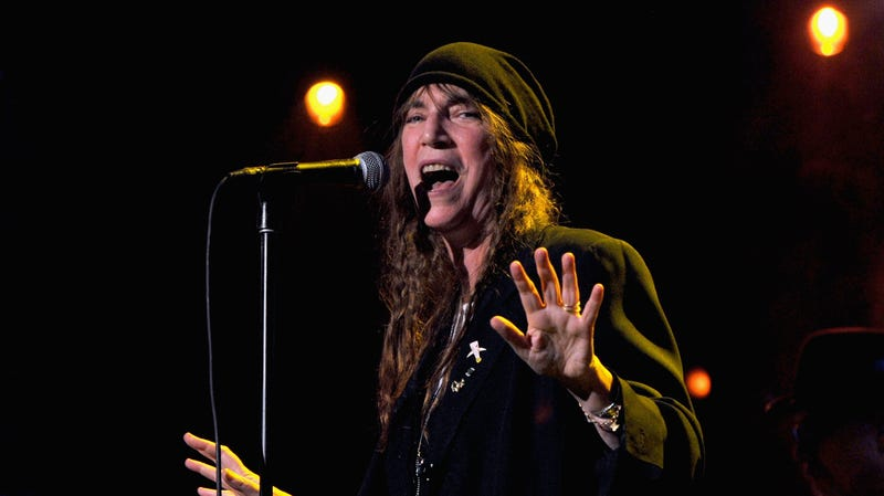 Patti Smith performs onstage at MusiCares Person Of The Year Honoring Bruce Springsteen at Los Angeles Convention Center on February 8, 2013 in Los Angeles, California.