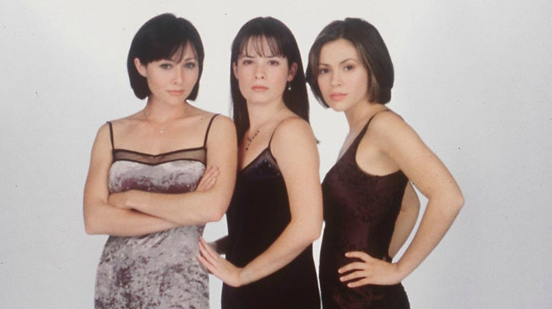 The original Charmed trio: Shannen Doherty, Holly Marie Combs, and Alyssa Milano