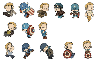 Illustration for article titled Here's A Complete Set of Movie Captain Americas