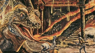Illustration for article titled Wild 1969 Japanese magazine art imagines the hellhole at Earth's core