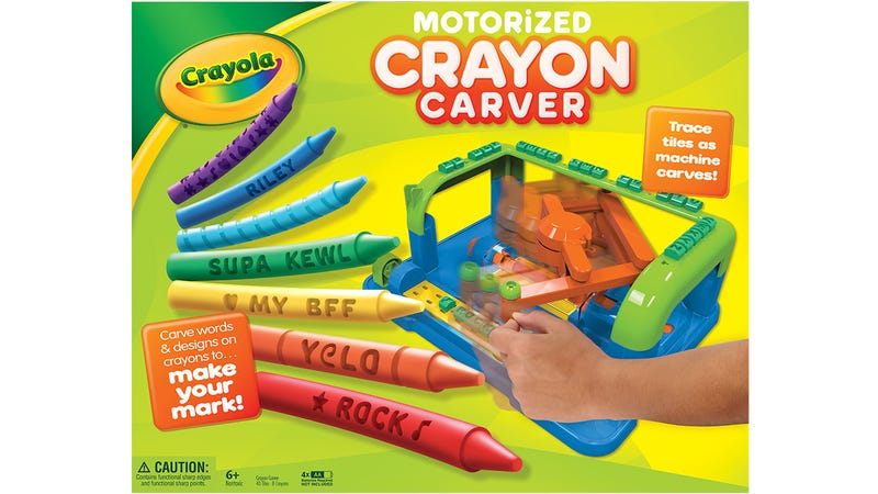 Illustration for article titled Instead of Coloring With Crayons, Crayola Wants You To Carve Them All Up
