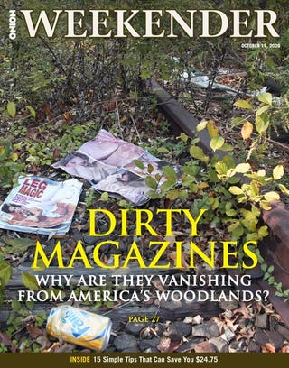 Illustration for article titled Dirty Magazines: Why Are They Vanishing From America's Woodlands?