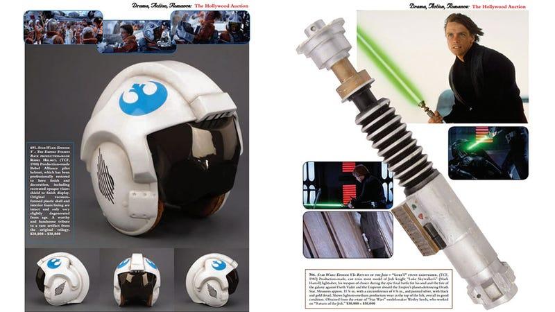 Illustration for article titled You Can Buy Luke Skywalker's Actual Lightsaber (Or Indiana Jones' Gun)