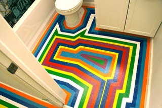 Illustration for article titled DIY: How To Give Your Apartment A Bold New Floor For Less Than $100
