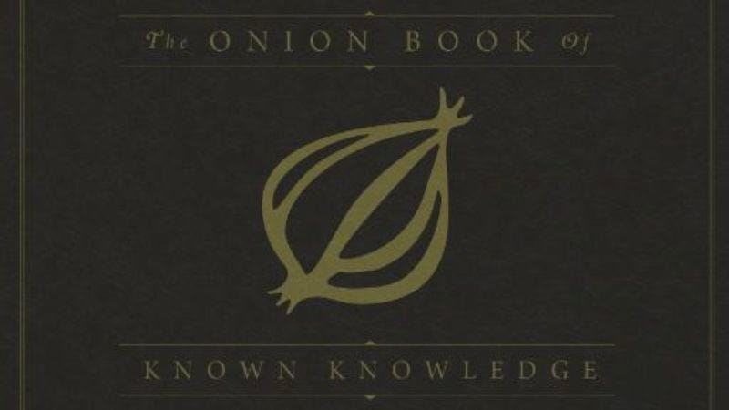 Illustration for article titled Chicago, come celebrate the release ofThe Onion Book Of Known Knowledge