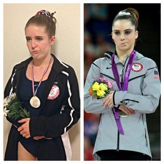 Illustration for article titled Woman With Bell's Palsy Has Awesome McKayla Maroney Halloween Costume