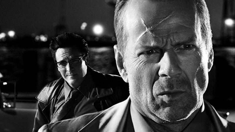 Bruce Willis and Michael Madsen in Sin City.