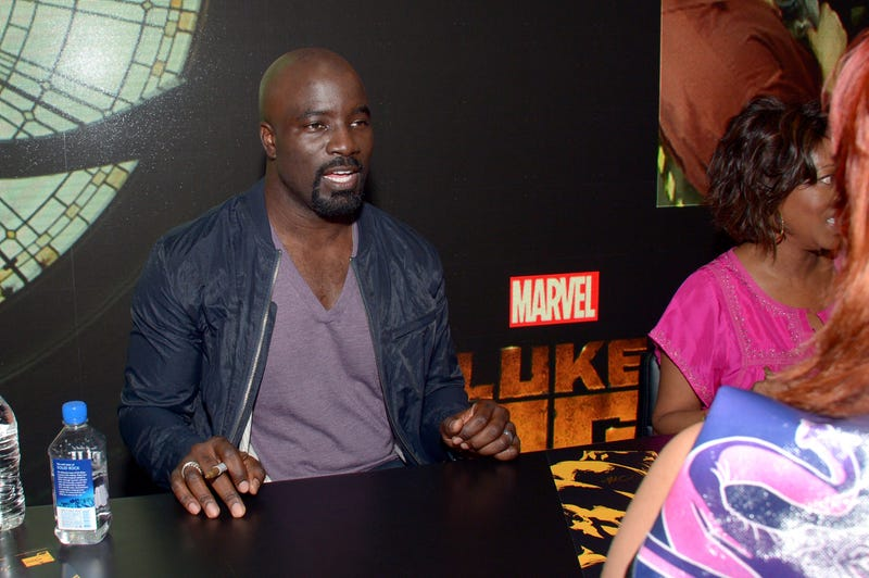 Actor Mike Colter signs autographs for Netflix/Marvel's 'Luke Cage' at Comic-Con International 2016 at San Diego Convention Center on July 21, 2016, in San Diego.