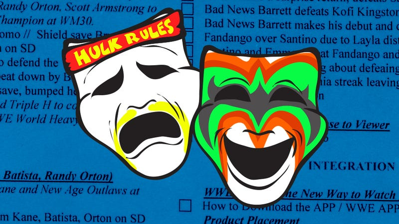 Illustration for article titled This Is What A WWE Raw Script Looks Like