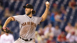 Illustration for article titled Madison Bumgarner Can Dominate Without You Even Noticing