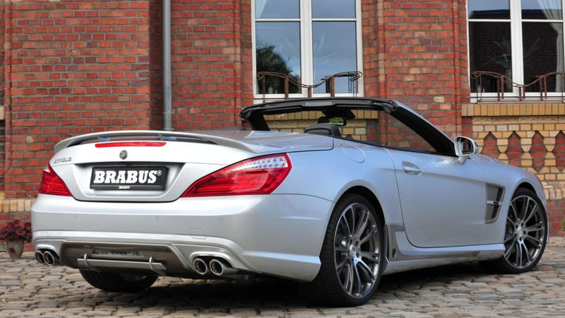 Illustration for article titled The BRABUS Mercedes SL Is A 520 Horsepower Toupee Ripper